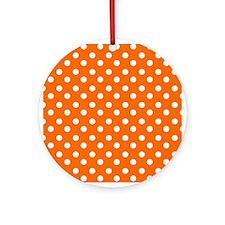 polka dots pattern Ornament (Round)