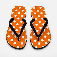 polka dots pattern Flip Flops