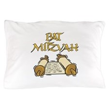 Bat Mitzvah with Scroll.png Pillow Case