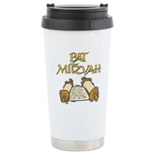 Bat Mitzvah with Scroll.png Travel Mug