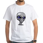 Grey Alien Head White T-Shirt