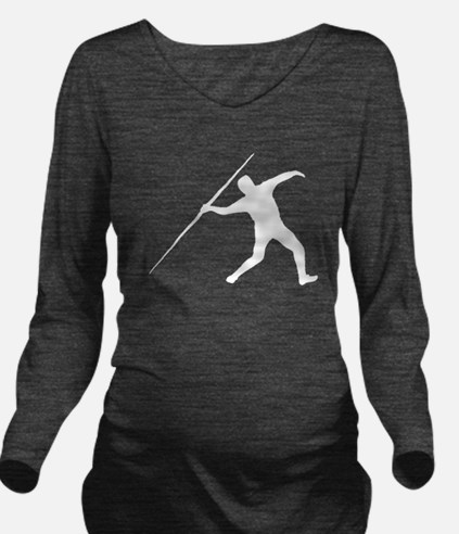 Javelin Throw Silhouette Long Sleeve Maternity T-S