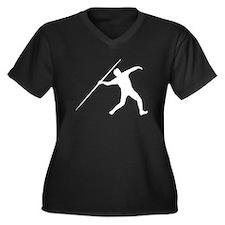 Javelin Throw Silhouette Plus Size T-Shirt