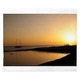 Sunset beach bedding King Duvet Covers