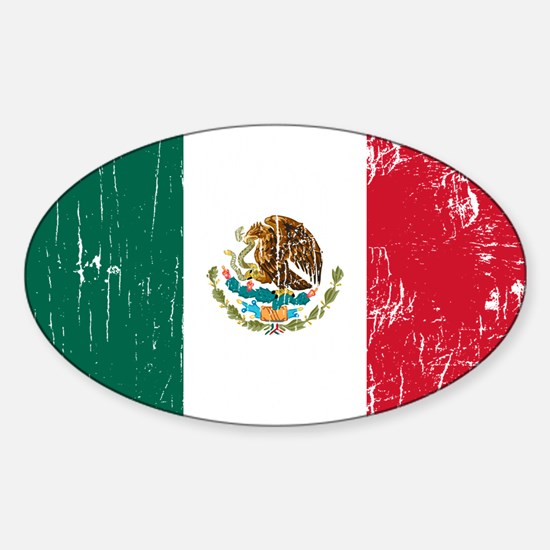 Vintage Mexico Oval Decal