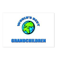 World's Best GRANDCHILDREN Postcards (Package of 8