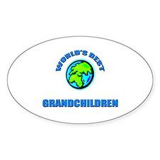 World's Best GRANDCHILDREN Oval Decal
