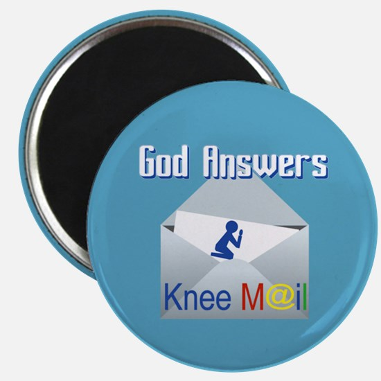 God Answers Knee Mail Magnets