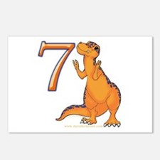 Kids Dino 7th Birthday Gifts Postcards (Package of