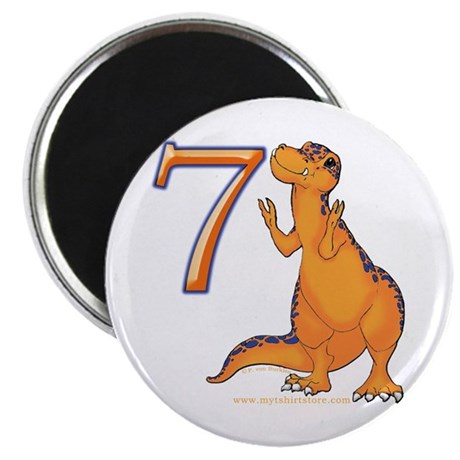 Kids Dino 7th Birthday Gifts Magnet