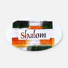 Shalom Oval Car Magnet