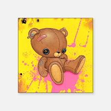 "Fuzz Bottom Square Sticker 3"" x 3"""