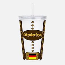 Oktoberfest Lederhosen Acrylic Double-wall Tumbler