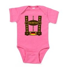 Oktoberfest Lederhosen Funny Baby Bodysuit