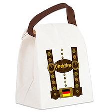 Oktoberfest Lederhosen Funny Canvas Lunch Bag