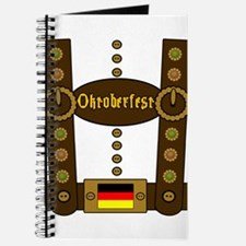 Oktoberfest Lederhosen Funny Journal