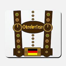 Oktoberfest Lederhosen Funny Mousepad
