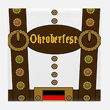 Oktoberfest Lederhosen Funny Tile Coaster