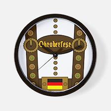 Oktoberfest Lederhosen Funny Wall Clock
