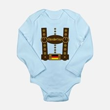 Oktoberfest Lederhosen Long Sleeve Infant Bodysuit