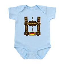 Oktoberfest Lederhosen Funny Infant Bodysuit