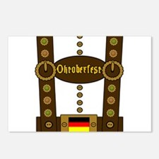 Oktoberfest Lederhosen Fu Postcards (Package of 8)