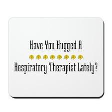 Hugged Respiratory Therapist Mousepad