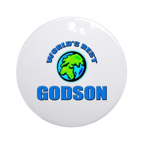 World's Best GODSON Ornament (Round)