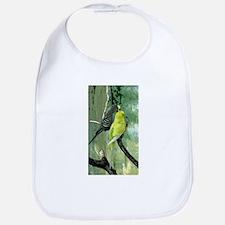 Cute Blue parakeet Bib