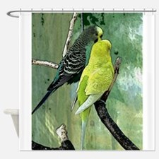 Green wing Shower Curtain