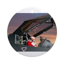 Santa Jet jpg.jpg Ornament (Round)