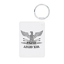 Roman Eagle 13 Legion Ii Blk Keychains