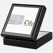 Cute Glass jar Keepsake Box