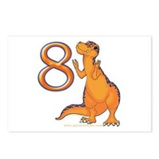Kids Dino 8th Birthday Gifts Postcards (Package of