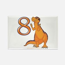 Kids Dino 8th Birthday Gifts Rectangle Magnet