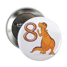 Kids Dino 8th Birthday Gifts Button