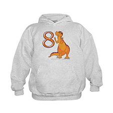 Kids Dino 8th Birthday Gifts Hoodie