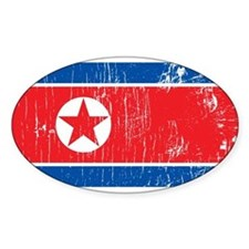 Vintage North Korea Oval Decal