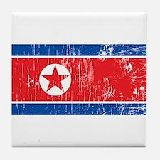 Vintage North Korea Tile Coaster