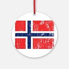 Vintage Norway Ornament (Round)