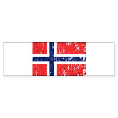 Vintage Norway Bumper Sticker