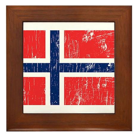 Vintage Norway Framed Tile