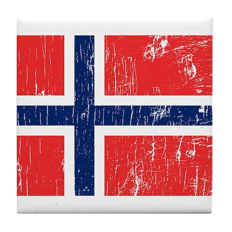 Vintage Norway Tile Coaster