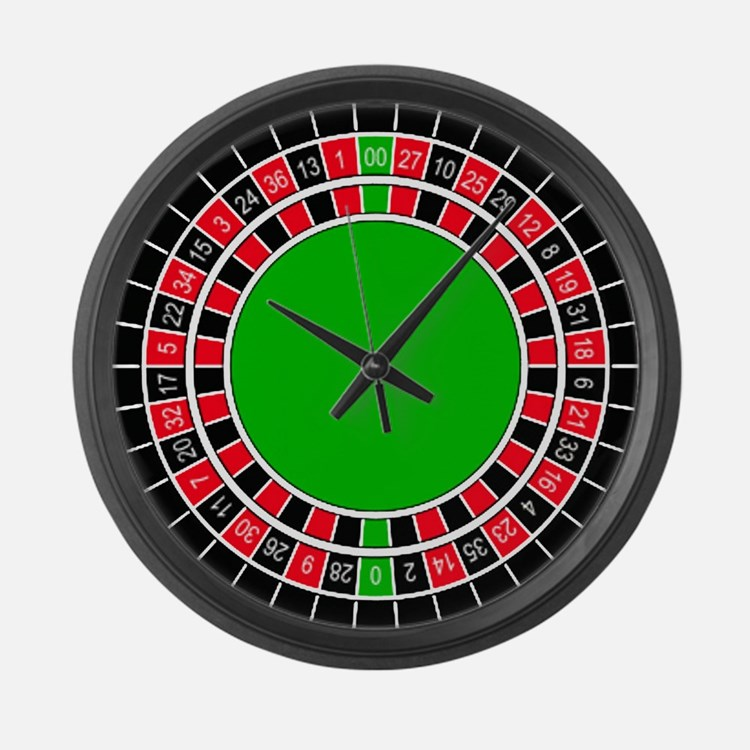 Roulette Clock Large Wall Clock