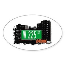 W 225 ST, Bronx, NYC Oval Decal