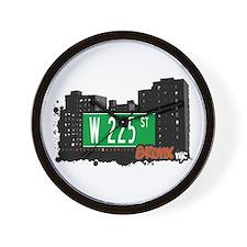 W 225 ST, Bronx, NYC Wall Clock