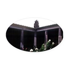 Pompeii ruins. House of the Vettii Oval Car Magnet