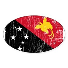 Vintage Papua New Guinea Oval Decal