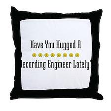 Hugged Recording Engineer Throw Pillow