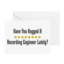 Hugged Recording Engineer Greeting Cards (Package